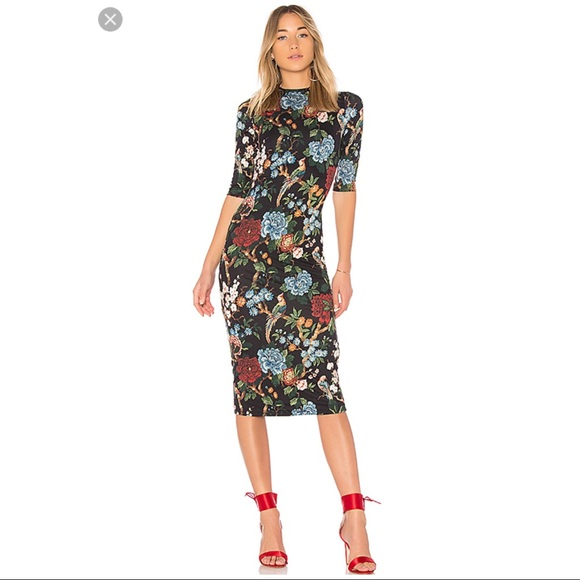 268f23741a62 Alice + Olivia Dresses & Skirts - ALICE + OLIVIA Delora Print Fitted Midi  Dress